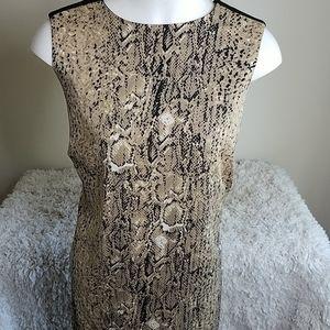 Vince Camuto Snake Print Straight Sheath Dress 14
